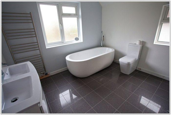 Gray Floor Tile Bathroom Ideas
