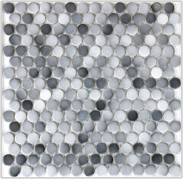 Gray Mosaic Floor Tile Bathroom