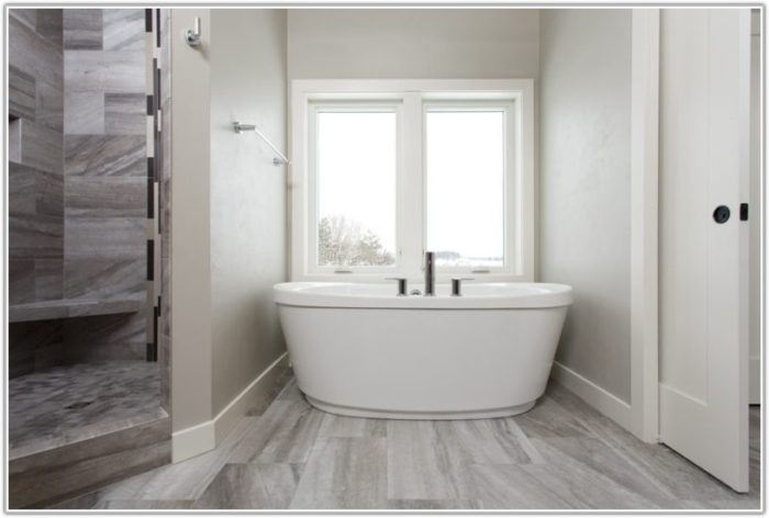 Gray Wood Look Porcelain Tile