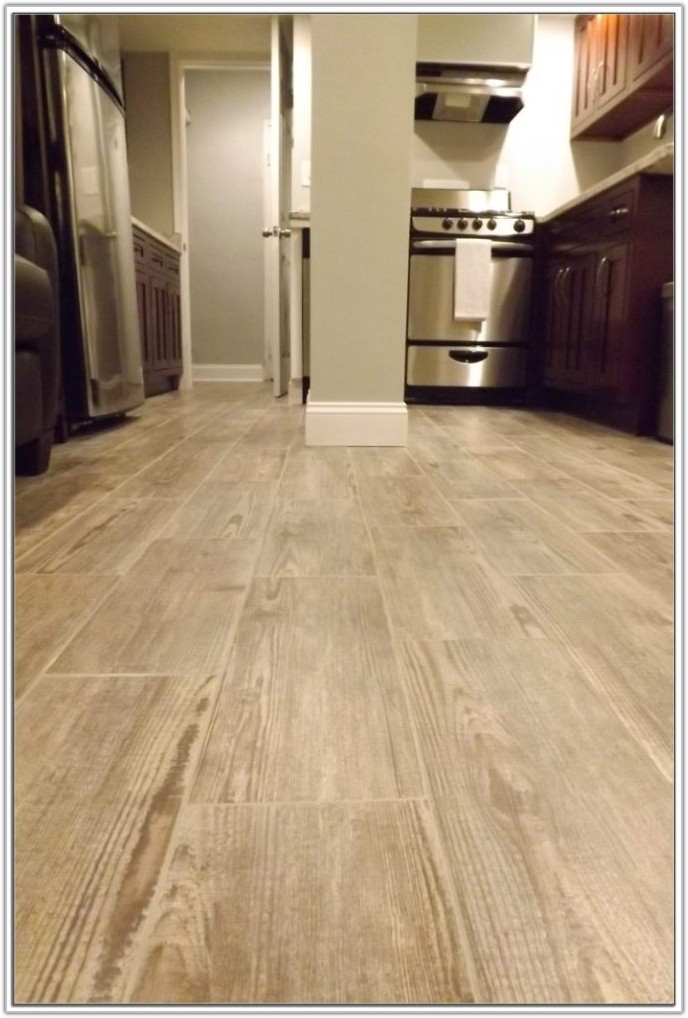 Gray Wood Look Tile Flooring