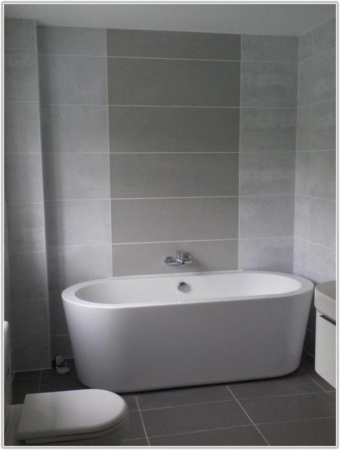 Grey Bathroom Wall And Floor Tiles