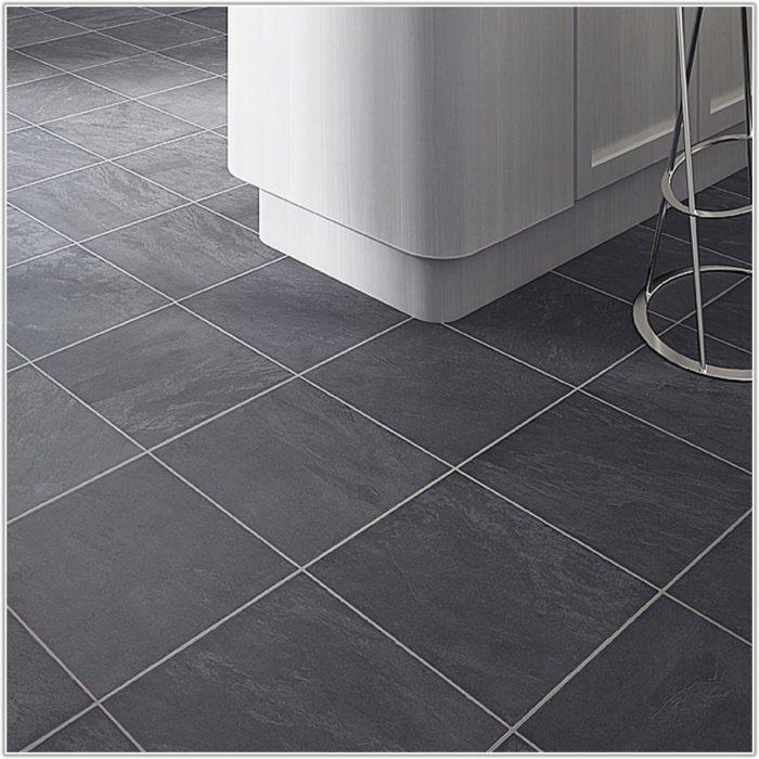 Grey Slate Tile Effect Laminate Flooring