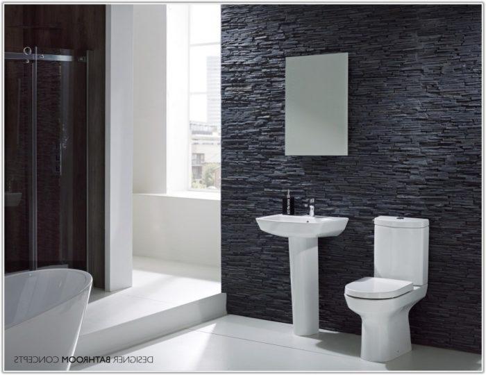 Grey Stone Bathroom Wall Tiles