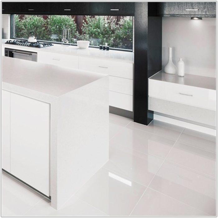 High Gloss Floor Tiles White