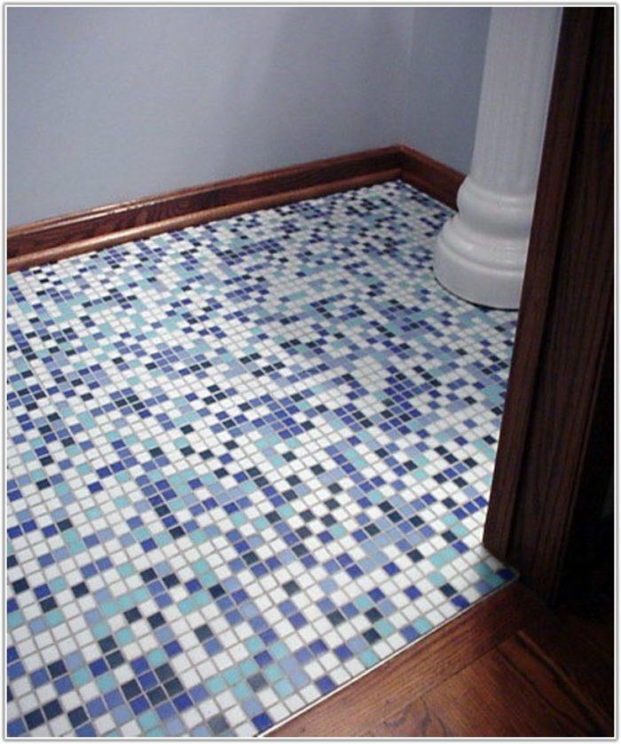 Installing Mosaic Tile Bathroom Floor