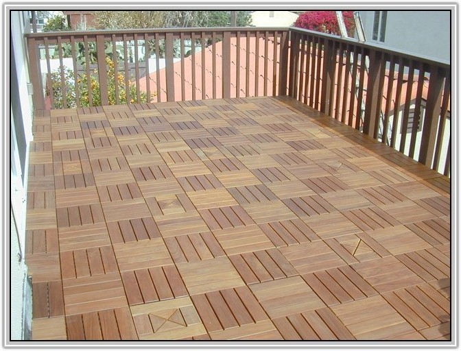 Interlocking Outdoor Wood Floor Tiles