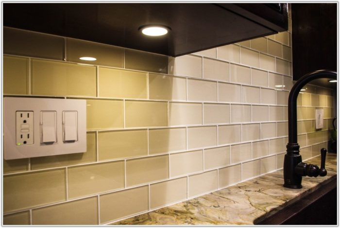 Kitchen Backsplash Glass Subway Tile