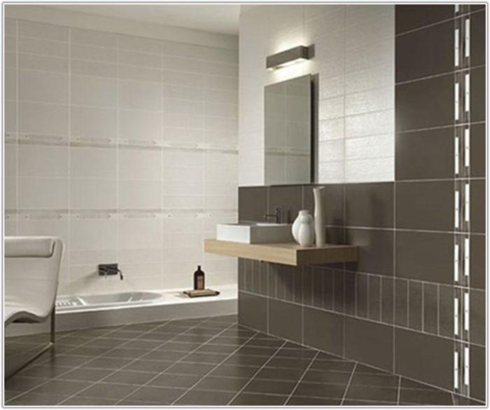 Large White Bathroom Floor Tiles