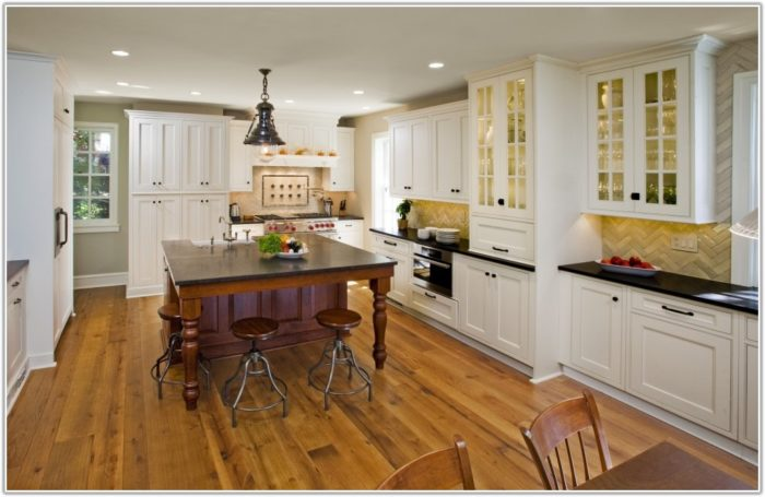 Large White Kitchen Floor Tiles