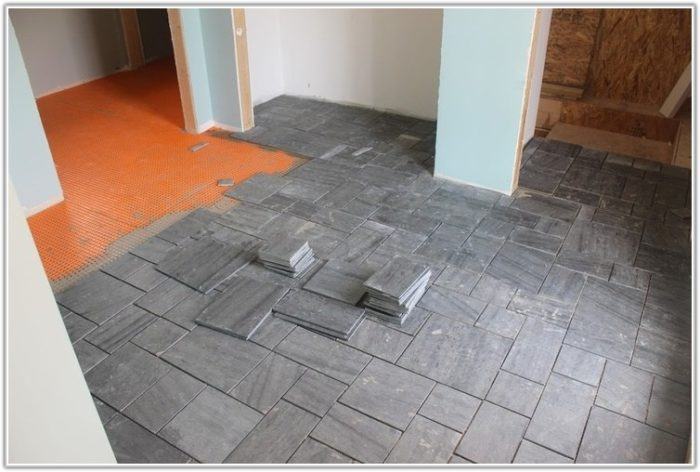 Laying Slate Tile In Kitchen