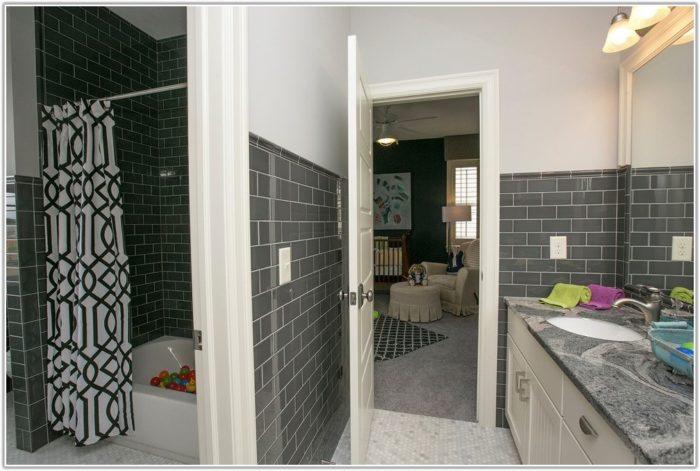 Light Gray Tile In Bathroom