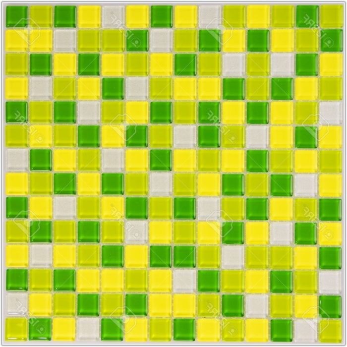 Lime Green Glass Mosaic Tiles