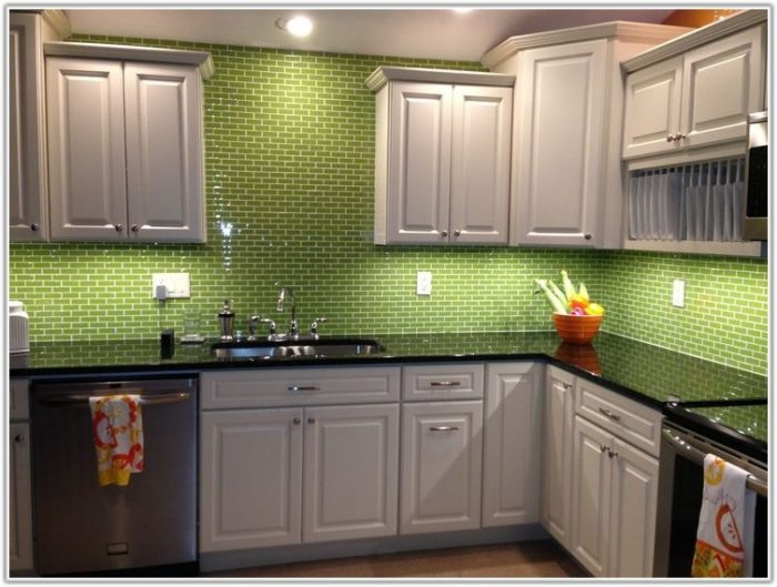Lime Green Glass Subway Tiles