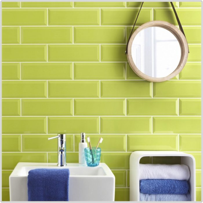 Lime Green Kitchen Wall Tiles