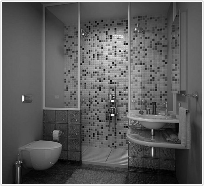Modern Bathroom Tiles Grey And White