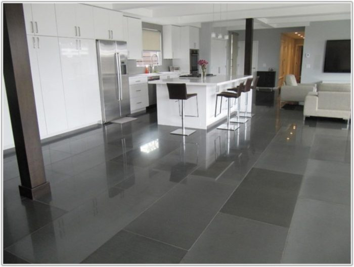 Modern Black Kitchen Floor Tiles