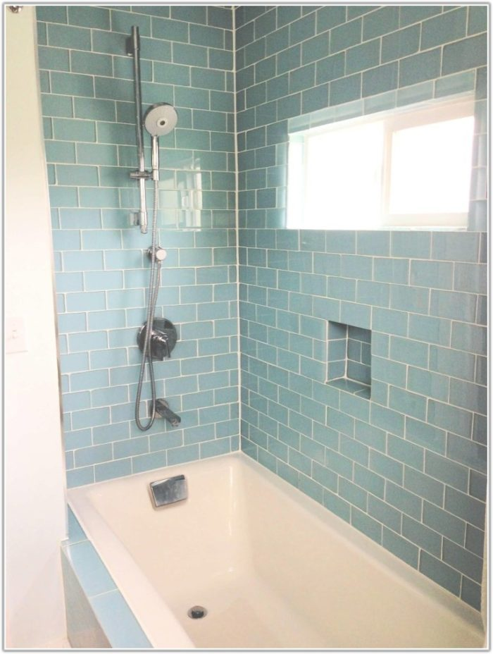 Modern Glass Tile Bathroom Ideas