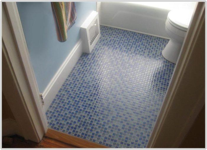 Mosaic Tile On Bathroom Floor