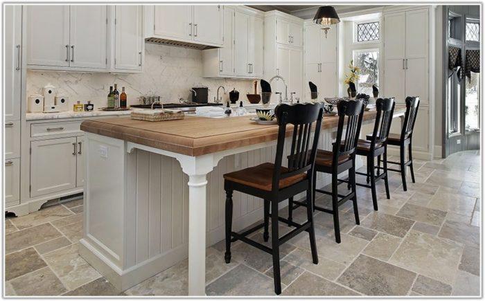 Natural Stone Tile Flooring Kitchen