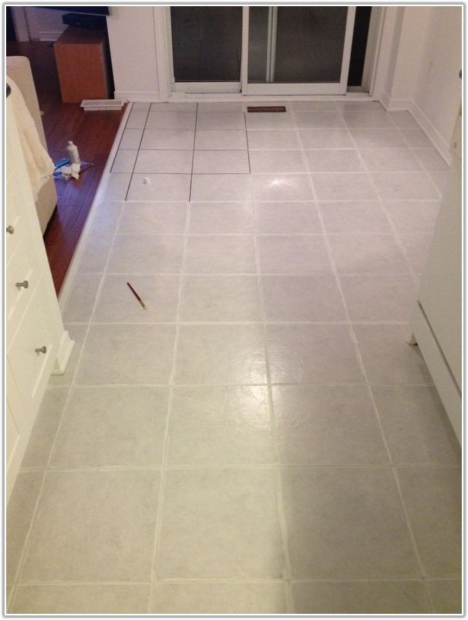 Painting Ceramic Floor Tiles Kitchen