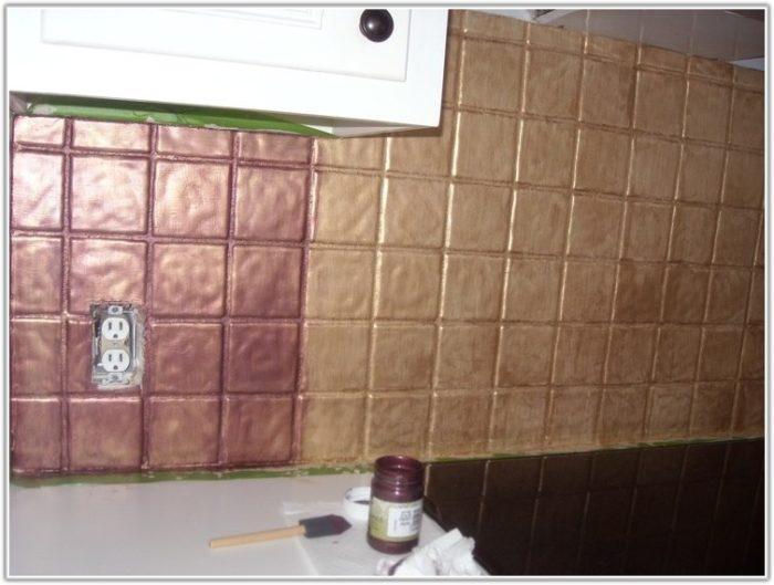 Painting Kitchen Ceramic Tile Backsplash