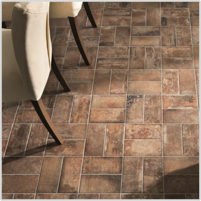 Red Brick Effect Floor Tiles