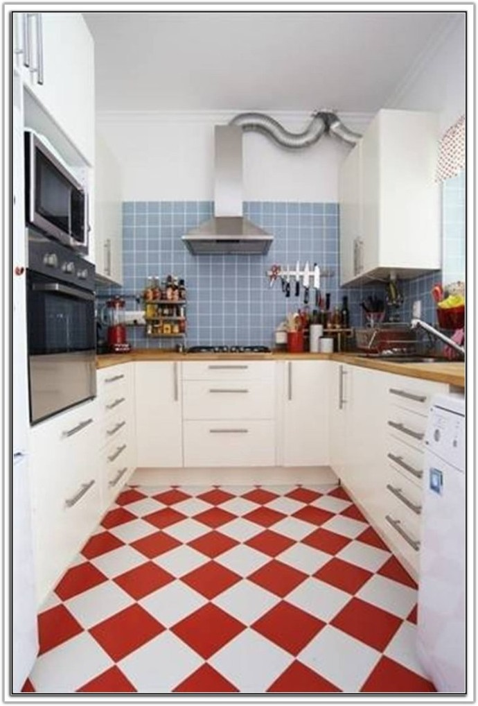 Red Floor Tiles For Kitchen