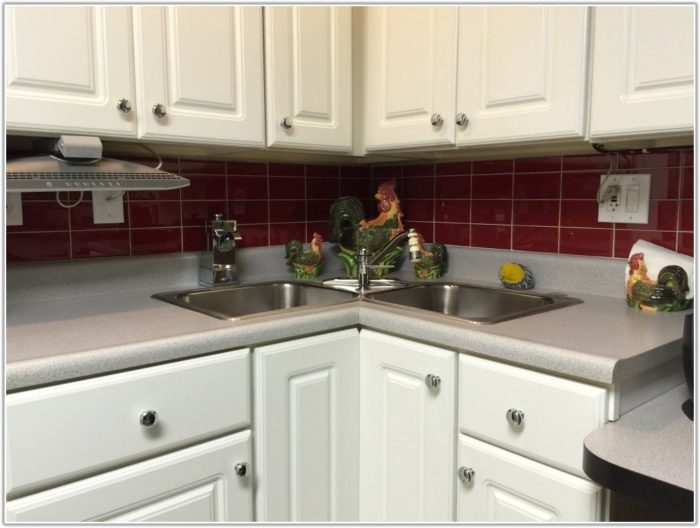 Red Subway Tile Kitchen Backsplash