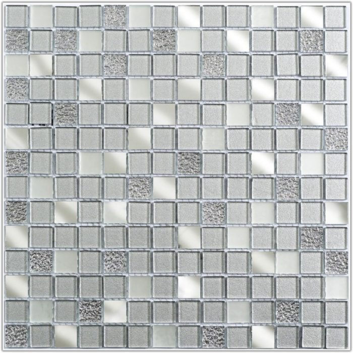 Silver Mirror Mosaic Glass Tiles