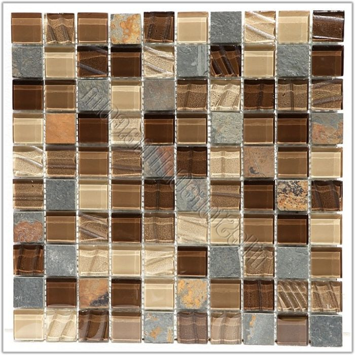 Slate And Glass Tile Mosaic