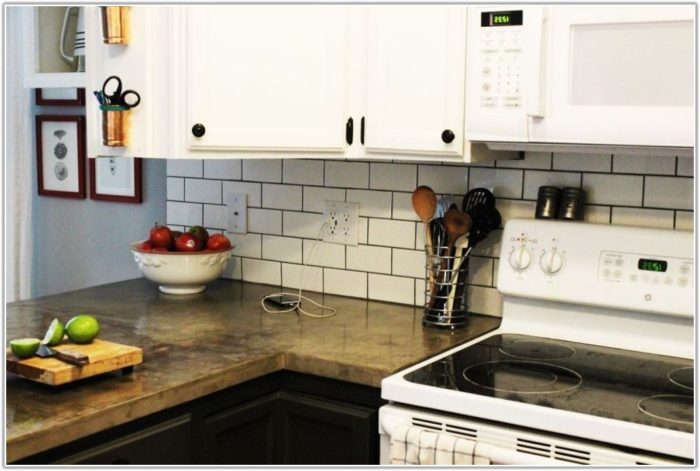 Subway Tile Kitchen Backsplash Diy