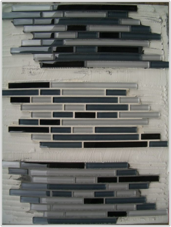 White Glass Subway Tile Black Grout