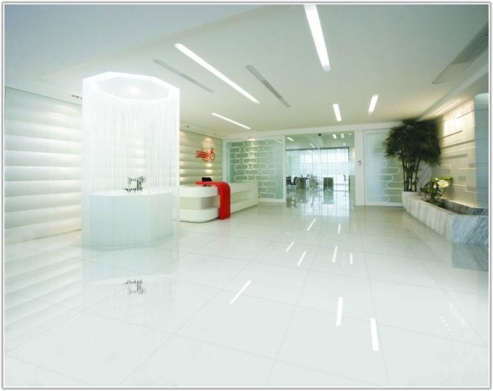 White Gloss Porcelain Floor Tiles