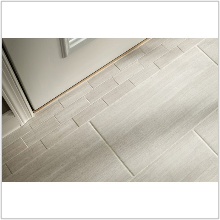 White Hexagon Floor Tile Grey Grout
