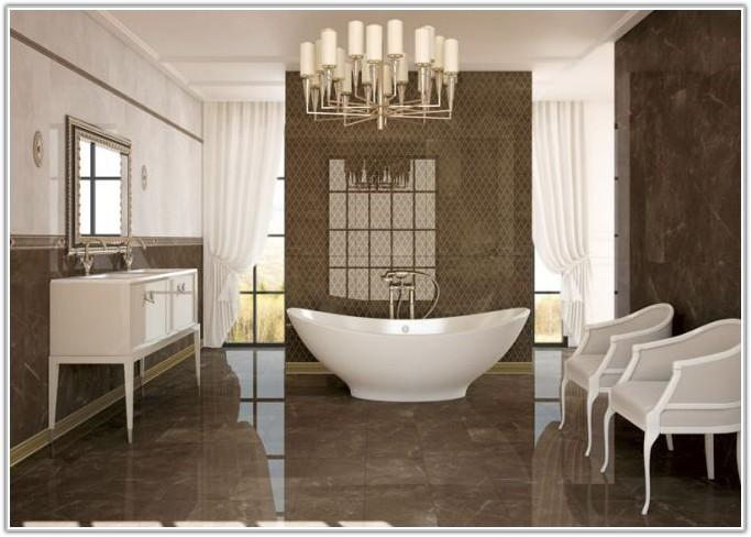 White High Gloss Bathroom Wall Tiles