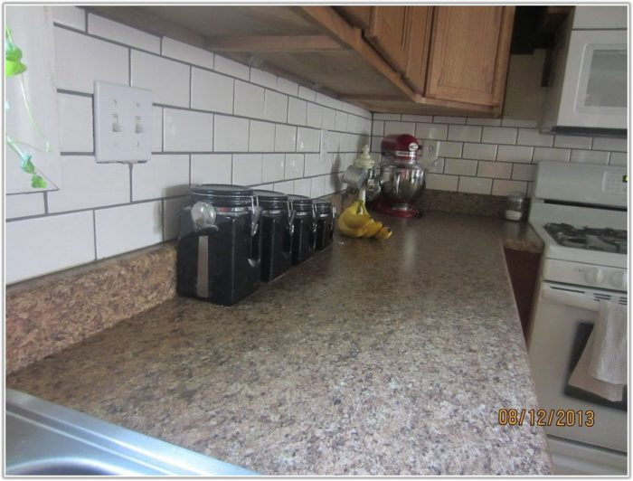 White Subway Tile Backsplash Grout Color