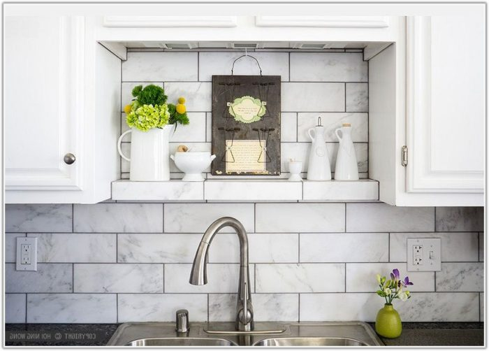White Subway Tile For Kitchen Backsplash