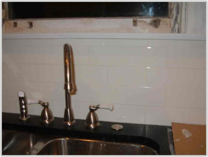 White Subway Tile Grout Color