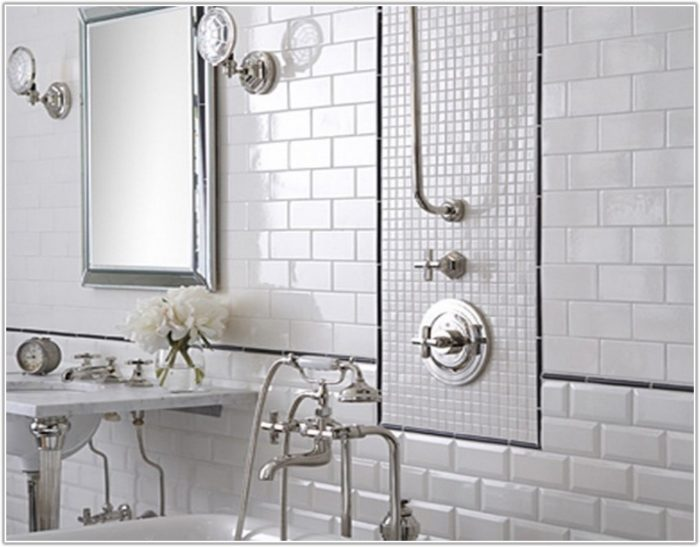 White Tile Ideas For Bathroom