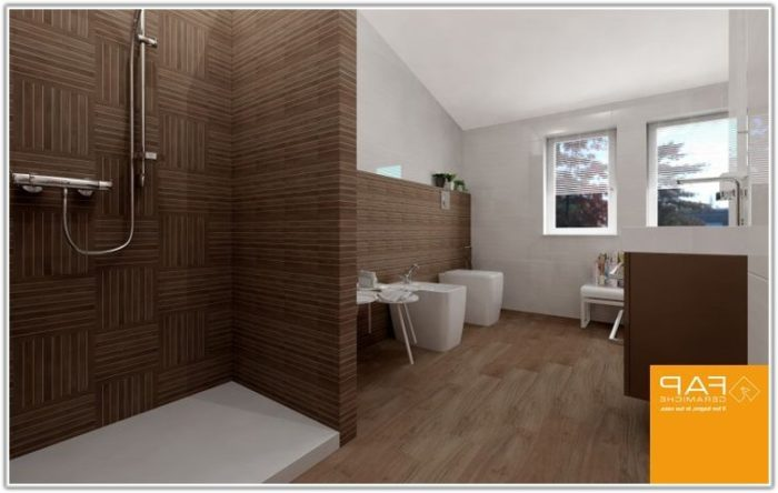 Wood Effect Floor Tiles Bathroom