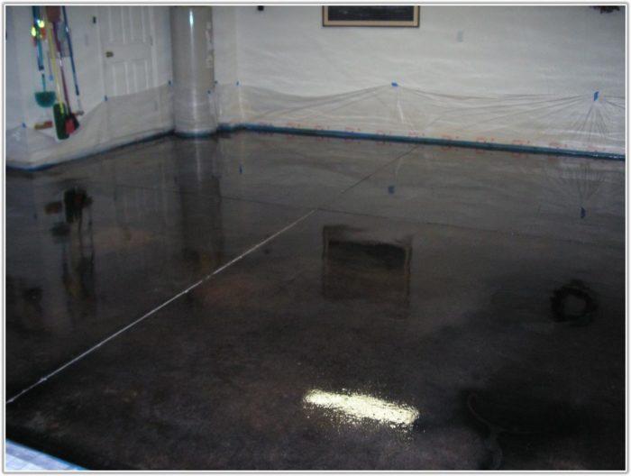 Acid Stain Garage Floor