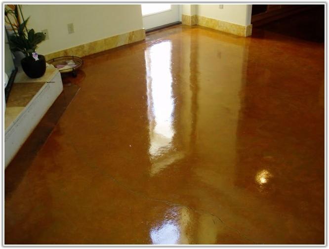 Acid Staining Concrete Floors