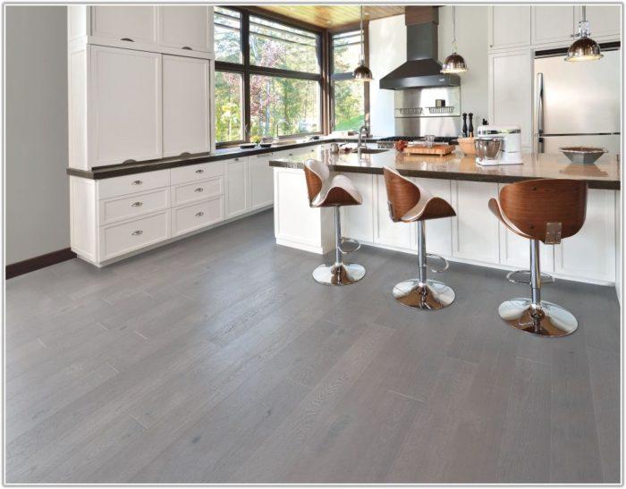 Gray Hand Scraped Wood Floors