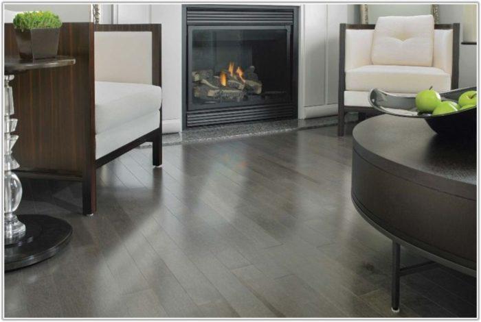 Grey Hardwood Floors With Dark Cabinets