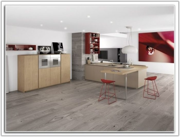 Grey Paint With Light Hardwood Floors