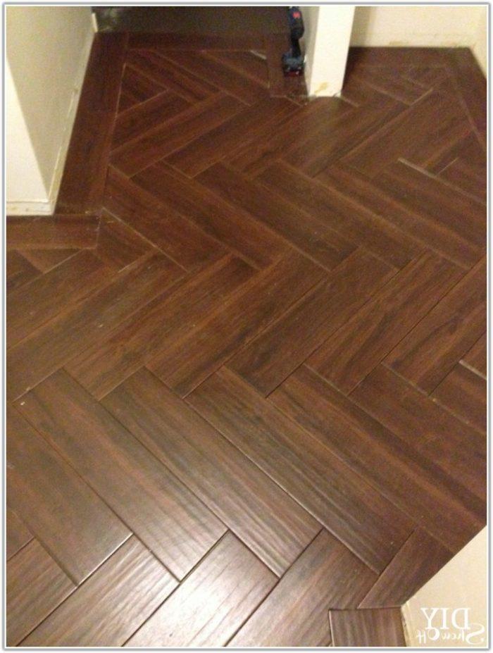 Herringbone Tile Pattern Floor