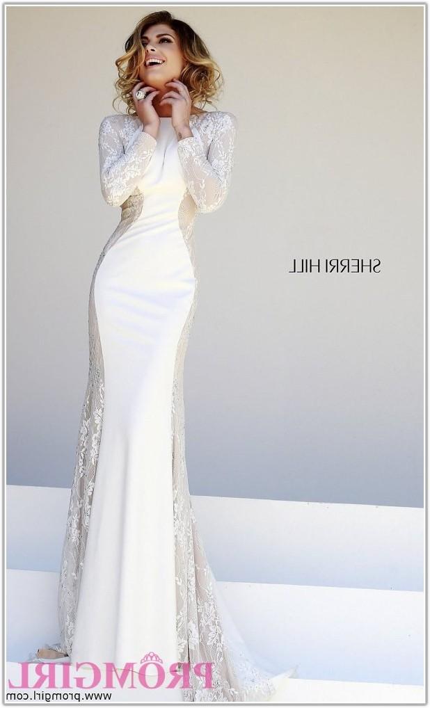 Long Sleeve Floor Length Prom Dress