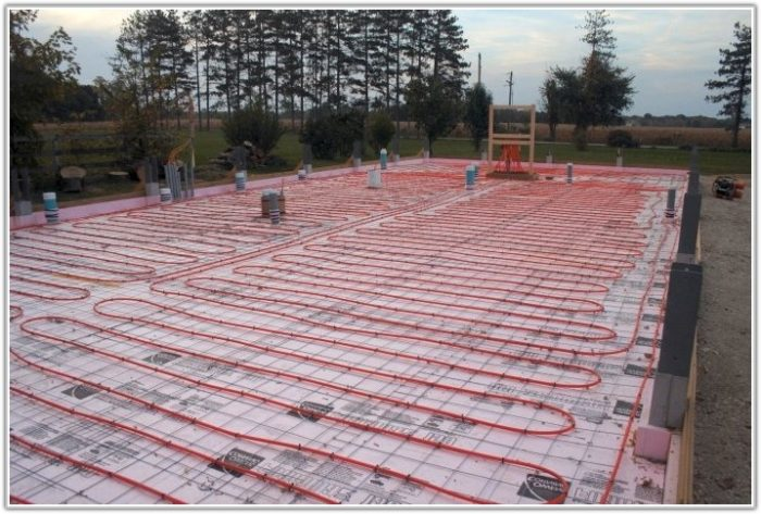 Pex Radiant Floor Heating Layout