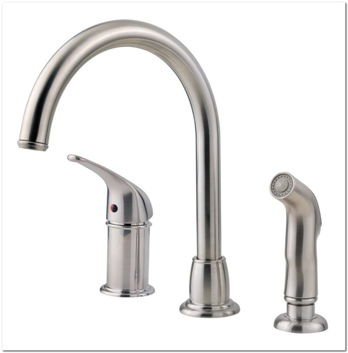 3 Hole Kitchen Faucet With Sidespray