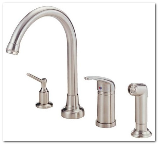 4 Hole Kitchen Faucet Stainless